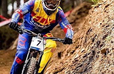 Marcelo Gutiérrez fue quinto este domingo en el DH del Campeonato Mundial de MTB, Andorra 2015