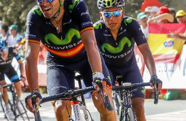 Nairo Quintana y Alejandro Valverde a la espera de la etapa de este miércoles