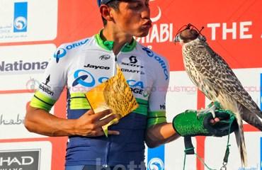 Chaves quedó a una sola etapa de coronarse campeón del Tour de Abu Dhabi