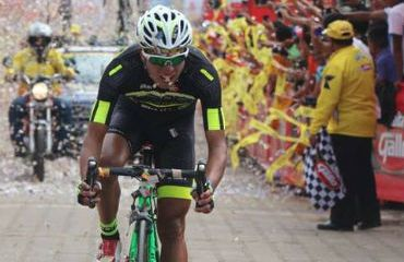 Nervin Jiatz vencedor de la cuarta etapa de la Vuelta a Guatemala 2015
