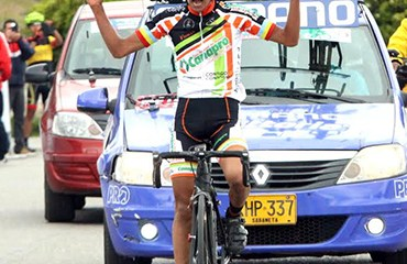 Ivan Sosa ganó la etapa reina de la Vuelta de la Juventud 2015