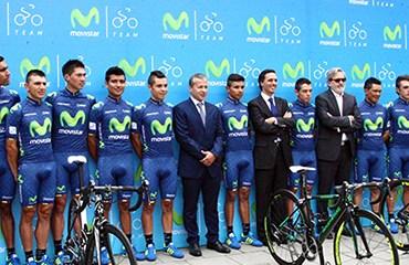 El Movistar Team América para la temporada 2016 fue presentado este lunes