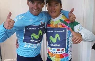 Carlos Betancur y Alejandro Valverde encabezan la barrida del Movistar en la Vuelta a Castilla y León