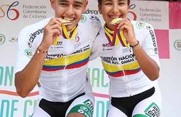 Isabella Orozco y Miguel Sarmiento se colgaron las medallas de oro en el Gran Fondo de los Campeonatos Nacionales Juveniles