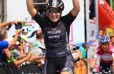 Hosking ganó la 3a etapa del Giro Rosa en un día sin cambios en la general