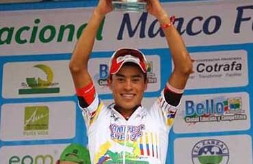Germán Chávez será una de las grandes apuestas del Coldeportes-Claro para el podio de la Vuelta de la Juventud 2016