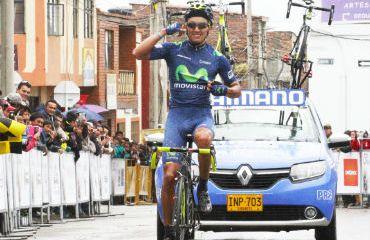 Brayan Ramírez, ganador de etapa y nuevo líder de Vuelta a Boyacá