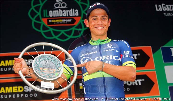 Esteban Chaves le sumó este sábado a su ya abultadas vitrinas el trofeo de Campeón del Giro de Lombardía