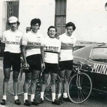 Fabio Navarro, Luis Murillo, Patrocinio Jiménez y Plinio Casas Vuelta al Táchira de 1977