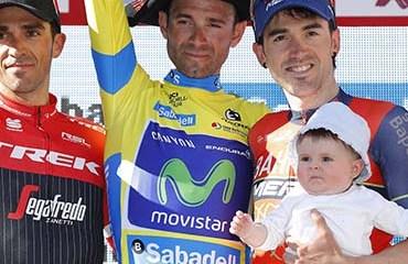 Valverde se coronó campeón de la ronda vasca tras realizar una gran defensa de la camiseta de líder en la CRI final