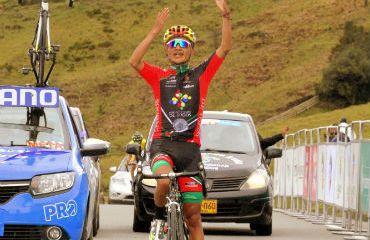 Luis Fernando Jiménez ganador de la etapa