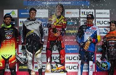 Gutiérrez fue tercero en la 1a parada de la Copa Mundo UCI de DH en la temporada 2017
