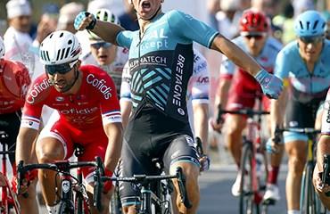 Bryan Coquard ganador de primera etapa de Tour de Omán