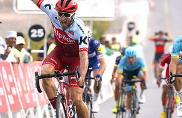 Nathan Haas ganador de segunda etapa de Tour de Omán