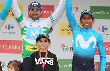 Valverde encabezó el 1-2 del podio final con Nairo Quintana segundo y muy enfocado