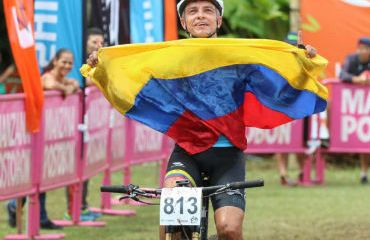 Santiago Robledo uno de los consagrados con Oro en Panamericano de MTB (Foto FCC)