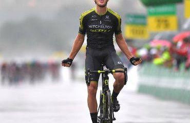El danés Chris Juul ganador de cuarta etapa de Tour de Suiza (Foto Michelton Scott)