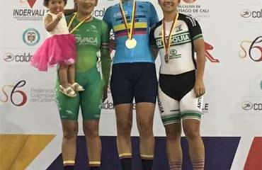 La bogotana Jessica Parra fue una de las medallistas en la jornada sabatina del Nacional de Pista élite 2018