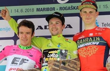"""""""Rigo"""" fue segundo en el podio final de la ronda eslovena y se mostró en gran forma para el TDF 2018"""
