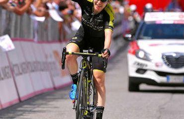 La australiana Amanda Spratt vencedora de sexta etapa de Giro Rosa (Foto Mitchelton-Scott