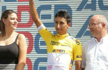 Egan Bernal. hoy en el Tour de Francia, es el actual campeón del Tour de L'Avenir