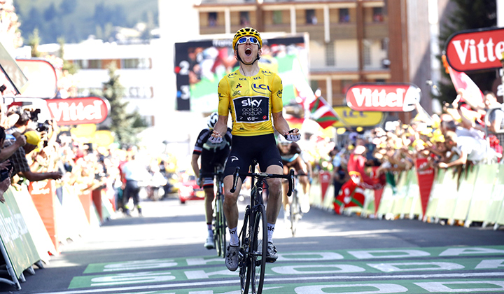 Geraint Thomas ganador de etapa de Alpe d'Huez y se afianza en liderato de TDF