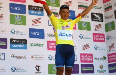 El ecuatoriano Jonathan Caicedo está a dos días del título de la Vuelta a Colombia
