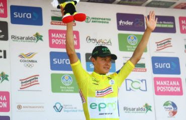 Contreras fue una de las grandes figuras de la pasada Vuelta a Colombia donde ganó las dos etapas de CRI