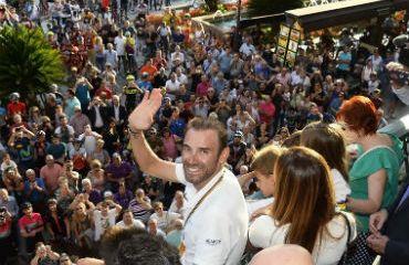 Alejandro Valverde recibió apoteósico recibimiento en en su natal, Murcia en España (Foto Movistar)