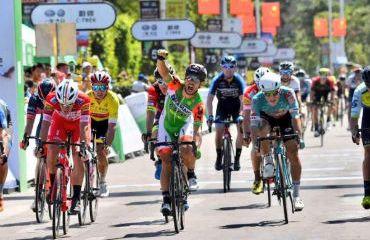 Andrea Guardini se impuso en cuarta etapa de Tour de Hainan (Foto Tour de Hainan)