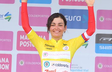 La antioqueña Estefanía Herrera se puso líder del Tour Femenino a un día del final