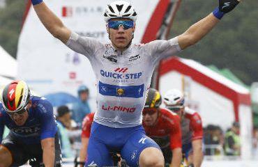 Fabio Jakobsen ganador de tercera etapa y nuevo líder de Tour Guangxi (Foto Quick-Step)