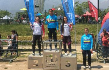 La vallecaucana Laura Ordoñez se impuso en Junior Damas en Chile (Foto BMX)