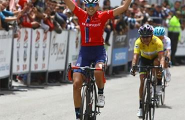Marcela Prieto se llevó la victoria en la etapa reina de la Vuelta a Colombia Femenina 2018