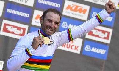 Alejandro Valverde en el 2019 estará luciendo su camiseta de Campeón del Mundo de ruta