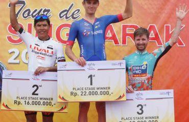Colombiano Edwin Parra segundo en tercera etapa del Tour de de Singkarak (Foto Tour de Singkarak)