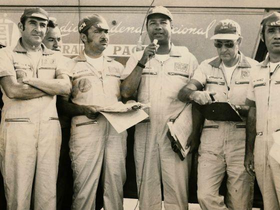 Alberto Piedrahita, Hernando Vidales, José Antonio Churio, Julio Arrastia y Darío Alvarez, la radio RCN de los años 70