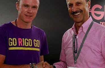 Jorge O. González concretó en el pasado Giro de Rigo, la presencia del cuatro veces campeón del TDF en la edición 2019 del Tour Colombia