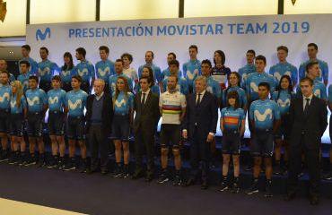 Este martes fue presentada la plantilla 2019 del Movistar Team (Foto Movistar Team)