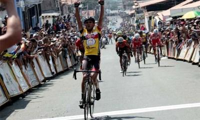 Jimmi Briceño ganó ayer en La Grita y este martes se proclamó líder y virtual campeón de la Vuelta al Táchira