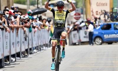 George Tibaquirá ganó la última etapa de la Vuelta a Boyacá 2021. (Foto © Macgiver Barón)