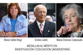 medallas al mérito en investigación y educación universitaria