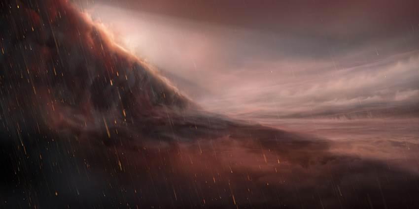 Exoplaneta llueve hierro