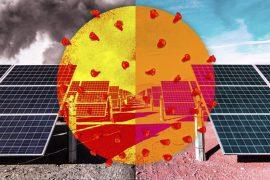 a medida que el aire se despejó, mayor rendimiento en la produccion de energía solar