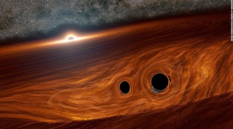 Nube gas cósmica late agujero negro