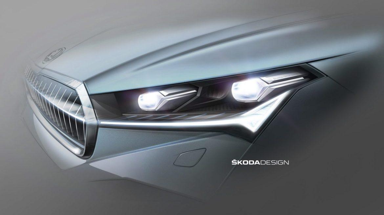 el Škoda enyaq iv nuevo diseño de iluminación