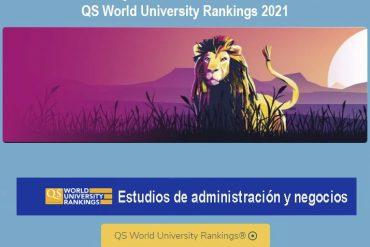 ranking qs, mejores universidades administración y negocios