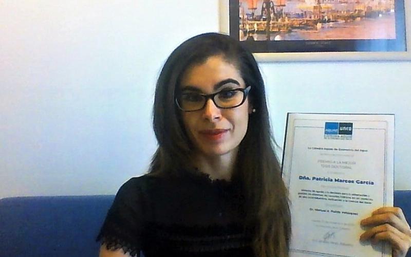 upv patricia marcos gana el primer premio cátedra aquae