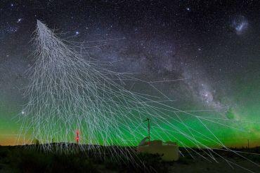 uv fuente galáctica con rayos cósmicos de alta energía