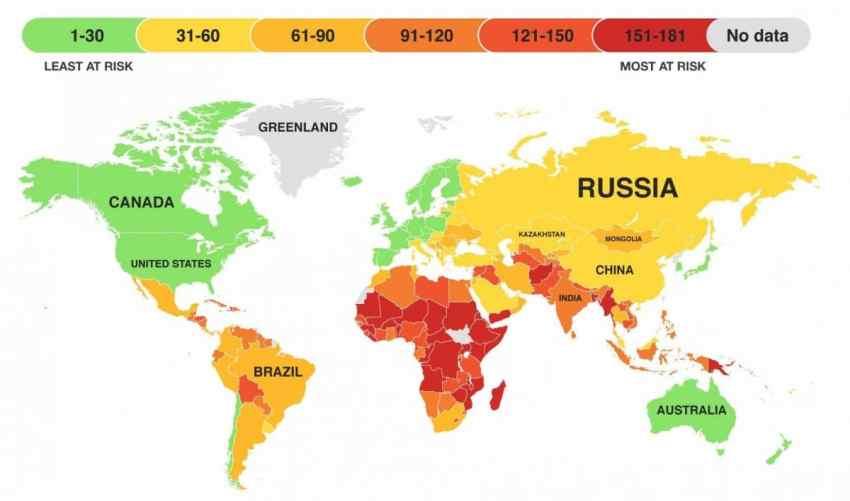 Paises cambio climatico